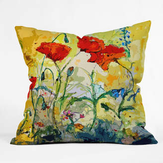 East Urban Home Poppies Provence Outdoor Throw Pillow