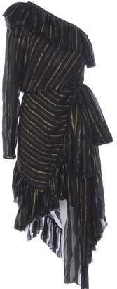 Philosophy di Lorenzo Serafini Asymmetric Flared Lame Dress