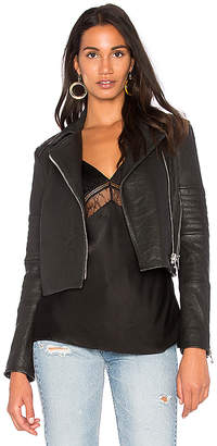 J Brand Aiah Leather Jacket in Black. - size L (also in M,S,XS)