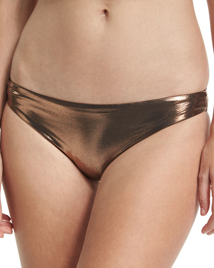 Luxe by Lisa Vogel Premier Metallic Hipster Swim Bottom 2