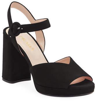 Prada Suede Platform 95mm Sandals