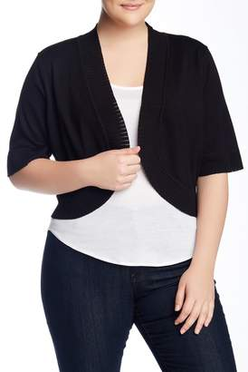 Cable & Gauge Shrug Sweater (Plus Size)