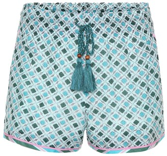 Talitha Collection Silk and cotton shorts