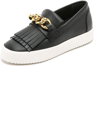 Giuseppe Zanotti Leather Sneakers $640 thestylecure.com