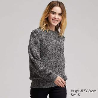 Uniqlo WOMEN Color Mixed Dolman Sleeve Sweater