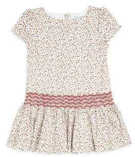 Luli and Me Little Girl's Floral Drop-Waist Dress