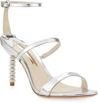 Sophia Webster Rosalind 85mm Metallic Three-Strap Sandal