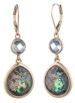 Aqua Double Stone Drop Earrings - 100% Exclusive