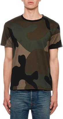 Valentino Men's Army Camo T-Shirt