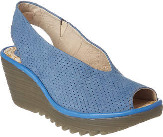 Fly London Yazu Leather Wedge Sandal