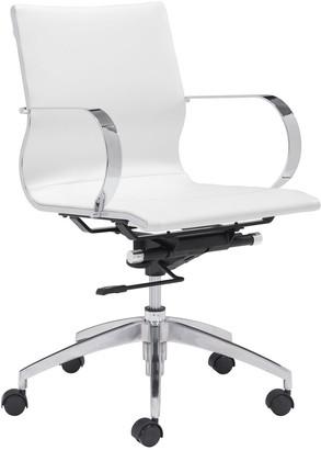 ZUO Modern Low Back Adjustable Glider Desk Chair