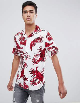 ONLY & SONS Short Sleeve Printed Shirt With Revere Collar
