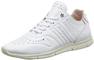 6680003ca177f Tommy Hilfiger Women s Leather Light Weight Sneaker Low-Top (White ...
