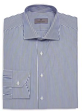 Candy-Striped Regular Fit Dress Shirt