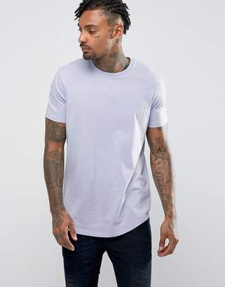Asos Design Longline T-shirt with Curve Hem