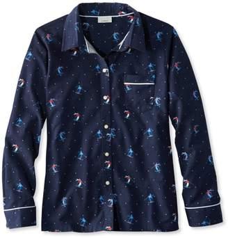 L.L. Bean L.L.Bean Flannel Pajama Top, Print