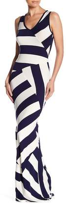 Couture Go Variegated Stripe Maxi Dress
