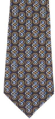 Chanel CC Silk Print Tie