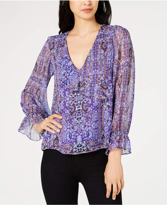 Nanette Lepore Nanette by Printed Peasant Top, Created for Macy's
