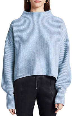 A.L.C. Helena Mock-Neck Lambswool Sweater