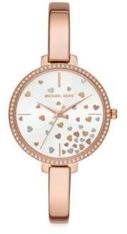 Michael Kors Jaryn Three-Hand Rose Goldtone Stainless Steel Watch