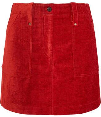 McQ Ribbed Chenille Mini Skirt - Brick