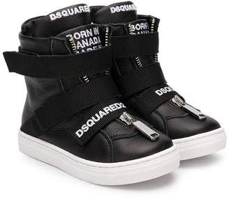 DSQUARED2 embroidered logo hi-top sneakers