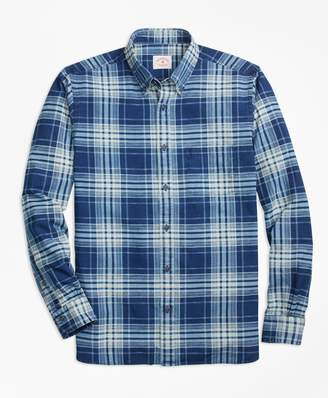 Brooks Brothers Indigo Plaid Sport Shirt
