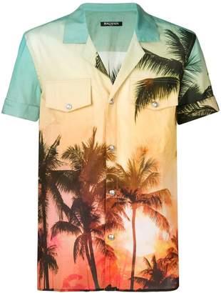 Balmain palm tree print shirt