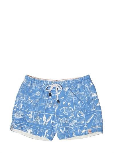 Myths Printed Nylon Swim Shorts