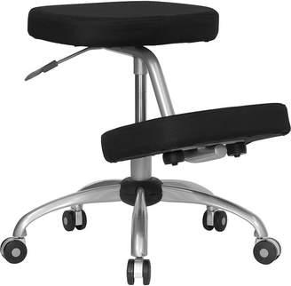 Asstd National Brand Mobile Ergonomic Kneeling Chair with Silver Frame