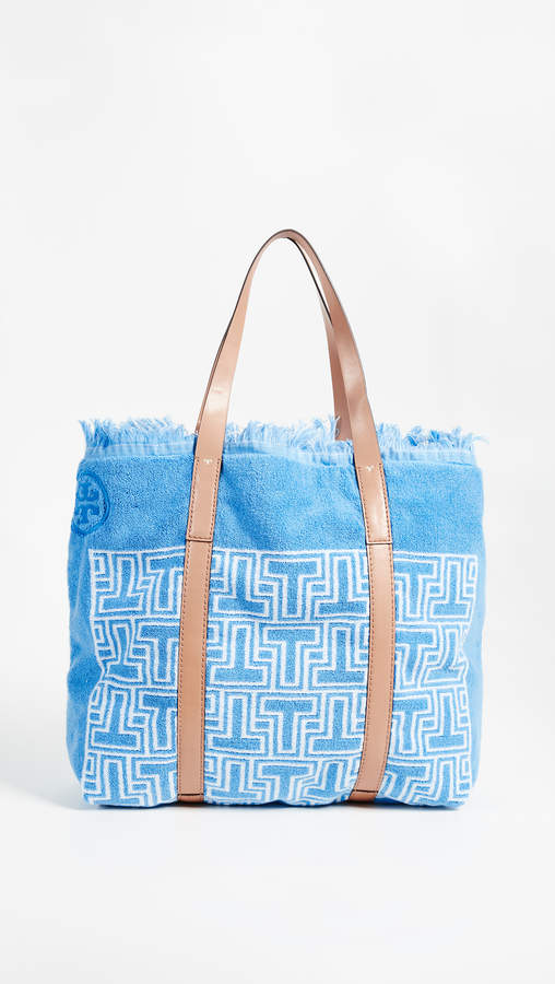 Tory Burch Towel T Tote Bag - BLUE - STYLE