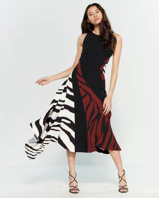 Roberto Cavalli Zebra Print Flared Dress