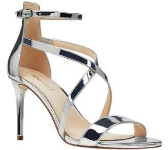 d7770b79d4f Nine West Silver Strap Buckle Women s Sandals - ShopStyle