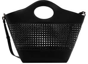 Violeta BY MANGO Laser-cut shopper bag
