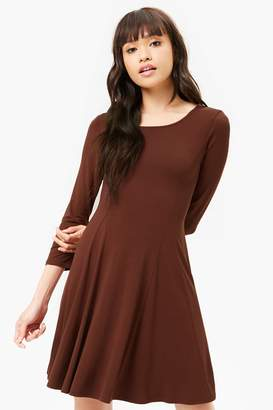 Forever 21 Lace-Up Swing Dress