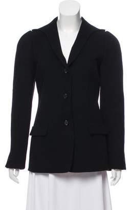 Halston Shawl-Lapel Button-Up Jacket