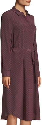 Lafayette 148 New York Stef Polka-Dot Button-Down Tunic Dress