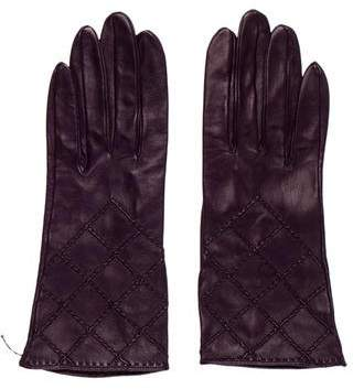 Chanel Quilted Lambskin Gloves