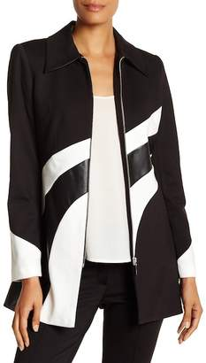 Insight Colorblock Faux Leather Detail Jacket