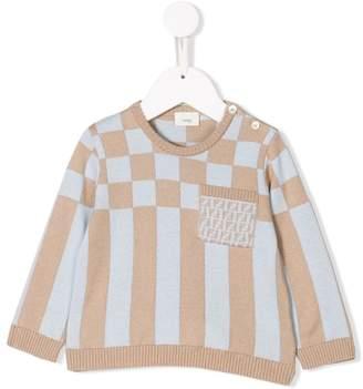 Fendi checked knit sweater