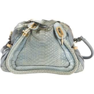 Chloé Paraty Blue Leather Handbag