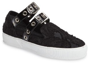 Women's Robert Clergerie X Self-Portrait Texas Buckle Sneaker $450 thestylecure.com