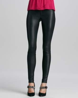 Alice + Olivia Lamb Leather Leggings