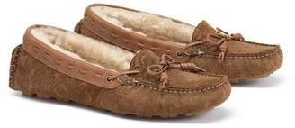 Trask Sophie Genuine Shearling Driving Loafer