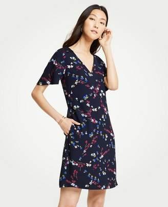 Ann Taylor Tall Savannah Floral Lace Pocket T-Shirt Dress