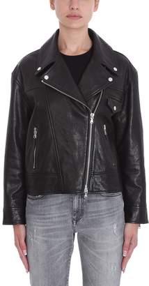 Mauro Grifoni Black Leather Biker Jacket