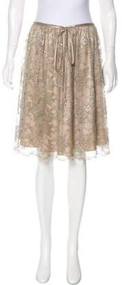 Valentino Guipure Lace Knee-Length Skirt