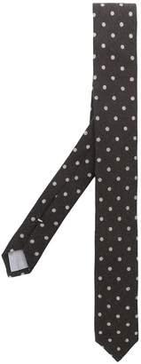Eleventy dot embroidery tie