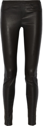 Helmut Lang Stretch-leather leggings $920 thestylecure.com